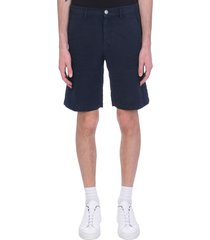 massimo alba vela shorts in blue linen