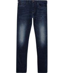 emporio armani j06 slim fit washed denim jeans - blue 3k1j06-1dy3z 942 j06 den