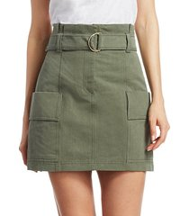 kai belted cargo mini skirt