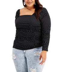 full circle trends trendy plus size ruched top
