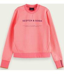 scotch & soda logosweater met ronde hals