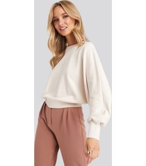 na-kd batwing sleeve sweatshirt - beige