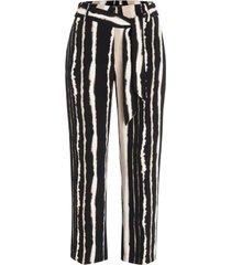cambio pantalon clair zwart gestreept