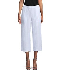 striped cropped linen pants