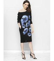 czarna sukienka oversize w chabry