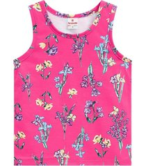 blusa regata em malha estampada brandili rosa - kanui