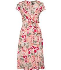 dress woven fabric knälång klänning taifun