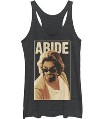 fifth sun big lebowski abide sunglasses stare tri-blend racer back tank