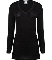 long-sleeve merino wool top