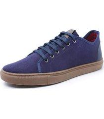 sapatenis sandalo levit marinho - azul marinho - masculino - dafiti