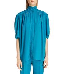 women's balenciaga tech crepe scarf neck blouse