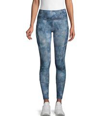x by gottex women's core print leggings - raspberry - size l
