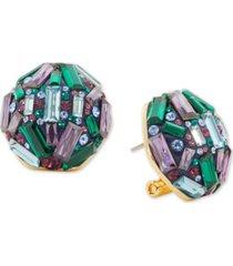 kate spade new york baguette crystal cluster stud earrings