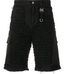 1017 alyx 9sm textured multi-pocket shorts - black