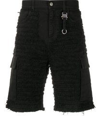 1017 alyx 9sm textured multi-pocket shorts - black