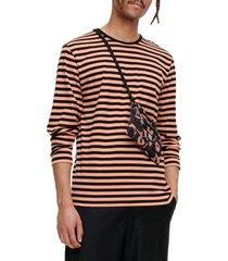 marimekko pitkhiha stripe top, size large - black