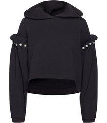 eliza hoodie hoodie trui zwart mother of pearl