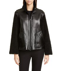 women's akris punto genuine shearling jacket