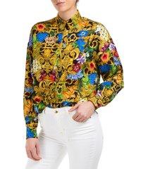 camicia donna maniche lunghe tropical baroque