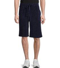 fila men's gabe terry shorts - peach black - size s