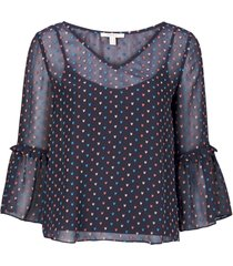 blus dobby heart chi blouse