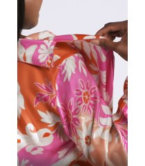 mantilla scroll mandarin sleepwear pajamas & loungewear, women's, 100% silk, size s, josie natori
