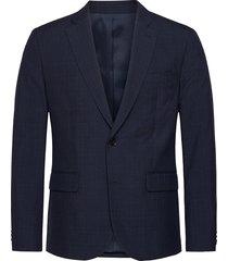 hopper soft-seersucker blazer colbert blauw j. lindeberg