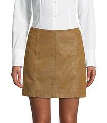 modern femme faux suede mini skirt