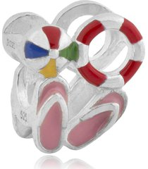berloque  lua pratas kit praia multicolorido - multicolorido - feminino - dafiti