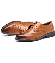 británico pu zapatos de trabajo hombres vestido formal oxfords