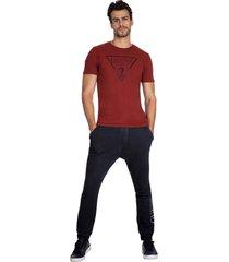 t-shirt logo gel guess - vermelho - masculino - dafiti