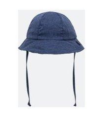 chapéu infantil em algodão - tam 0 a 12 meses | teddy boom (0 a 18 meses) | azul | 00/06 meses