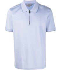 canali zip-up polo shirt - blue