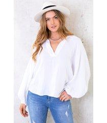 katoenen oversized blouse offwhite