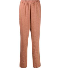 forte forte low-waist tapered trousers - pink