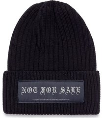 'not for sale' patch beanie