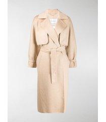 max mara layered belted agar coat