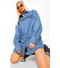 nepleren jas met oversized mouwen, dark blue