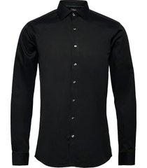 plain fine twill shirt, wf ls overhemd business zwart lindbergh
