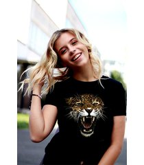 koszulka czarna damska organiczna tiger