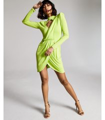 zerina akers for bar iii solid knit dress, created for macy's