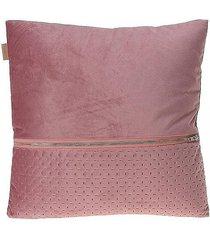 poduszka dekoracyjna z suwakiem różowa