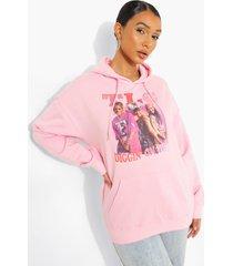 oversized gelicenseerde tlc hoodie, pink