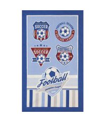 toalha de banho infantil döhler futebol azul
