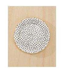 amaro feminino conjunto c/ 6 pratos de sobremesa polka dots, polka dots