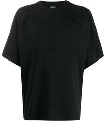 marcelo burlon county of milan embossed wings t-shirt - black