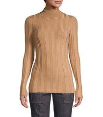 turtleneck cashmere & silk-blend sweater