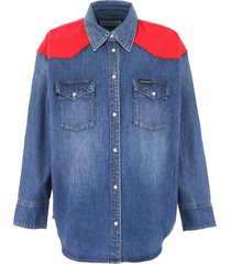 calvin klein jeans western denim shirt with inserts