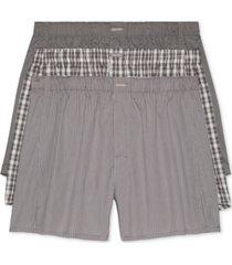 calvin klein men's 3-pack woven boxers
