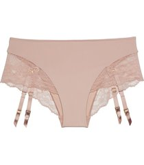 natori intimates eclipse brief with removable garters panty, women's, 100% cotton, size l